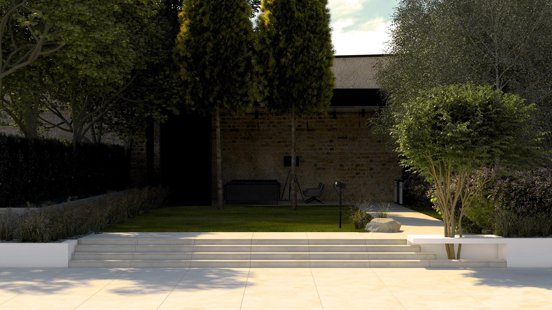 amenajarea unei gradini cu pavilion metalic