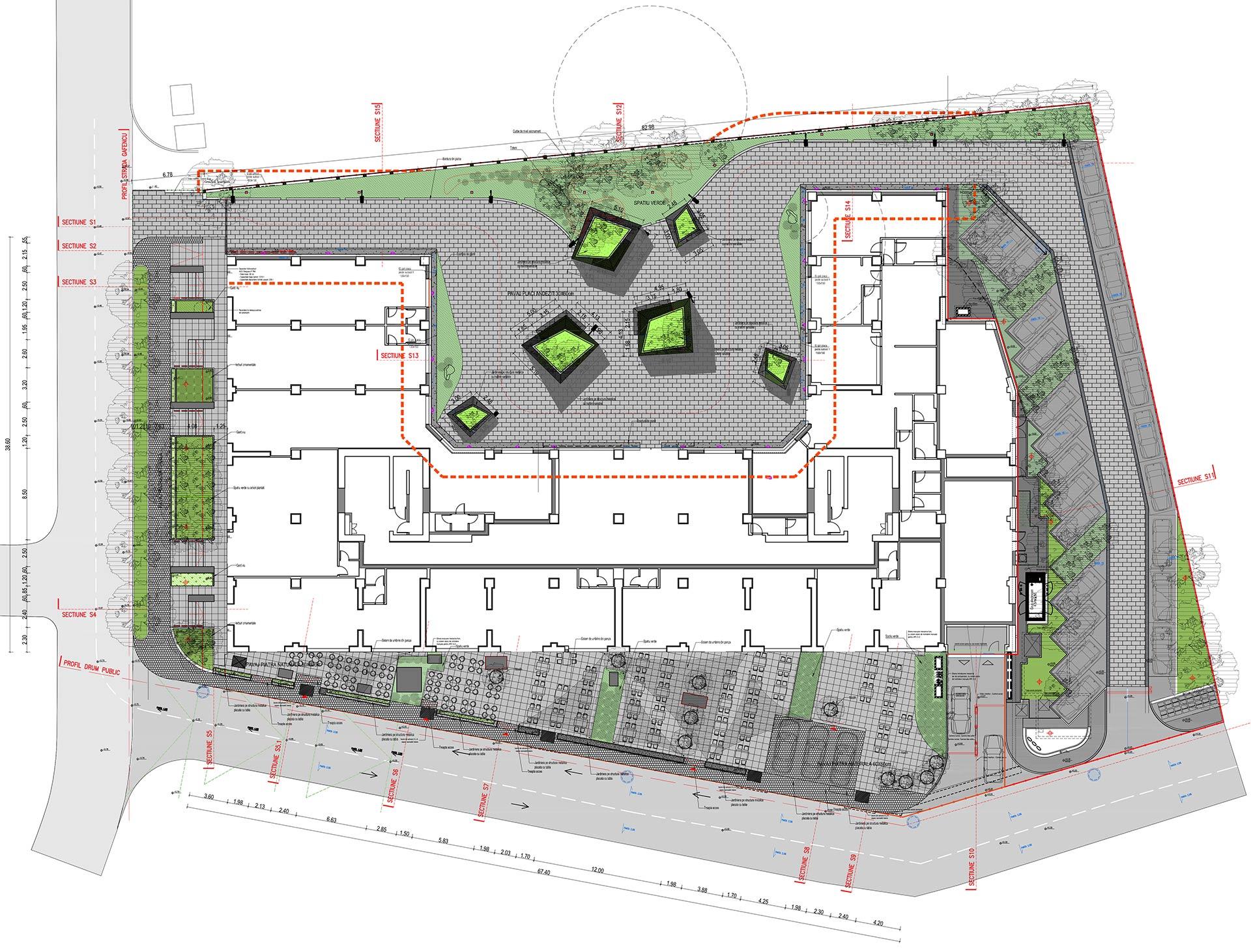 proiect de peisagistica pentru ansambluri rezidentiale