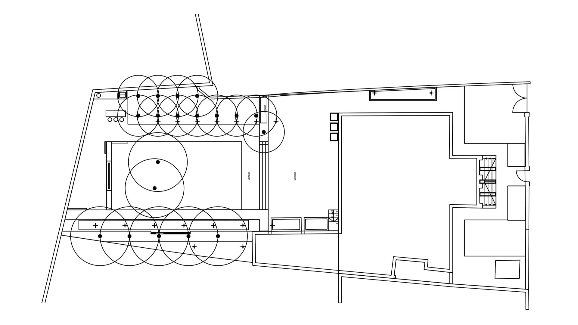 plan amenajarea unei gradini cu pavilion metalic