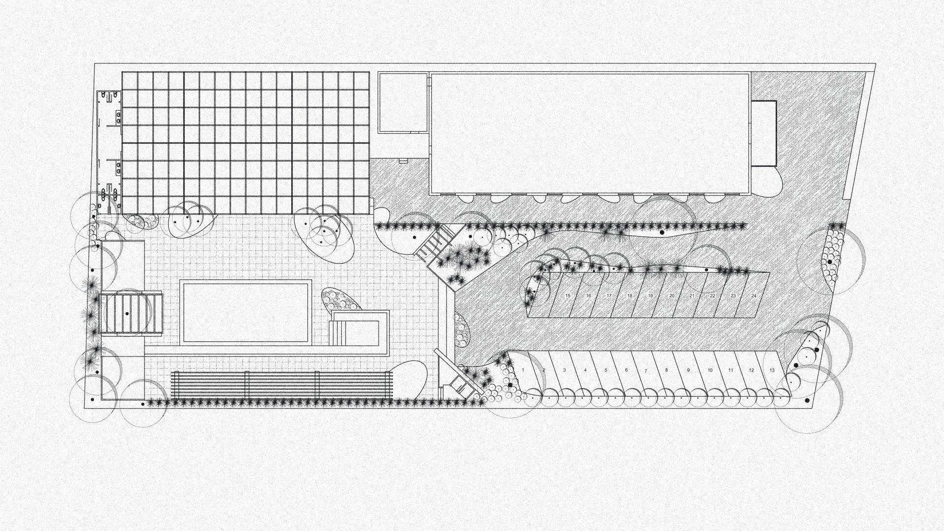 proiect de amenajare peisagistica gradina salon evenimente